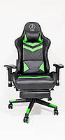 Кресло геймерское, компьютерное Avko Style AG72830 Black / Green RGB