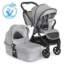 Детская коляска универсальная 2в1 ME 1085 SAGA Gray модульная