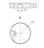 ODF-06-41-02 Коннектор круглый прижимной для стекла, с боковым отверстием  d34 M8, полированный, фото 2