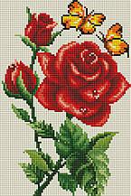"""Набір алмазної мозаїки 20х30 """"Роза і метелики"""" DT714"""