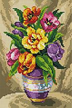 """Набір алмазної мозаїки 20х30 """"Букет тюльпанів"""" DT721"""