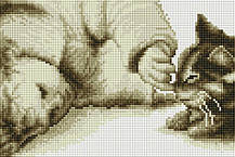 "Набір алмазної мозаїки 20х30 ""Хлопчик і кошеня"" DT719"