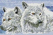 """Набір алмазної мозаїки 20х30 """"Пара вовків"""" DT715"""
