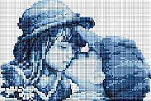 "Набір алмазної мозаїки 20х30 ""Перший поцілунок"" DT718"