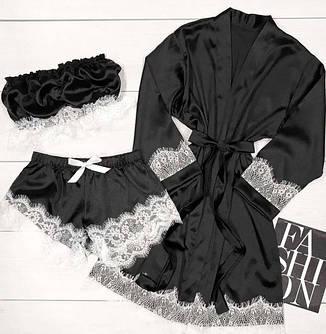 Комплекты с халатами атлас-PREMIUM