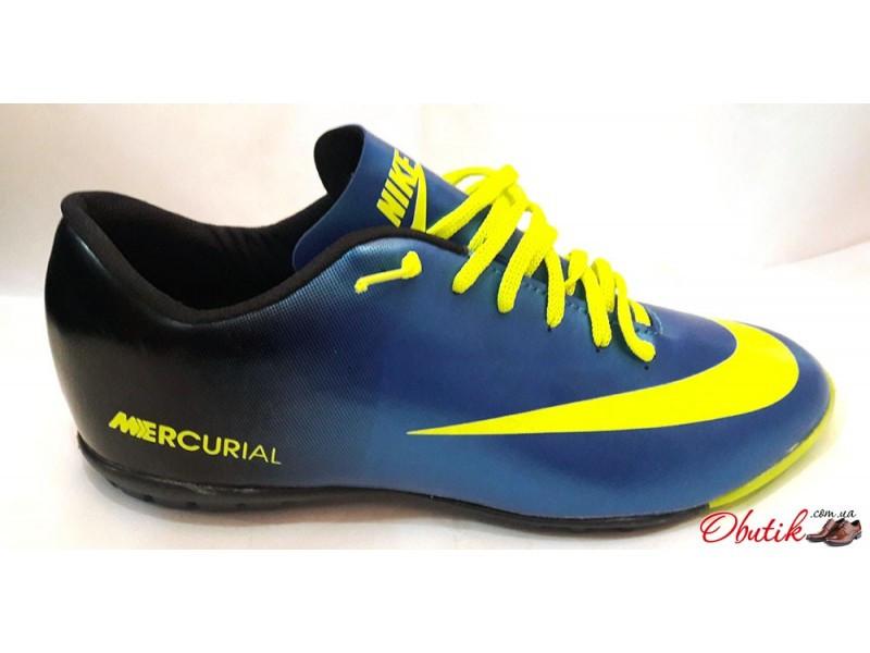 691612d0 Кроссовки футбольные (бутсы, копочки, сороконожки, футзалки) Nike синие с  желтым NI0045, цена 850 грн., купить в Харькове — Prom.ua (ID#214178781)