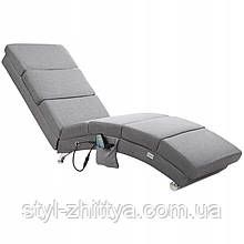 Шезлонг, лежак з масажем та підігрівом