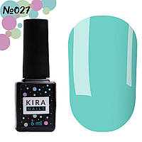 Гель-лак Kira Nails №027 (голубой, эмаль), 6 мл, фото 1