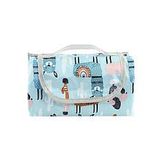 Килимок для пікніків і кемпінгу складаний Lesko Shanpeng Njb-001 Блакитна Альпака 150*200 см каремат