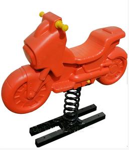 Гойдалка-качалка Мотоцикл Dali №322 помаранчевий на пружині для дітей