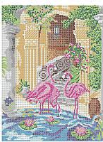 Схема для вышивки бисером Розовые фламинго