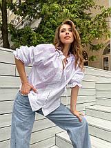 """Женская хлопковая блуза """"EMI"""" с рукавом-фонариком, фото 3"""