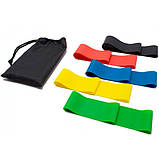 Гумки для фітнесу і спорту (стрічка еспандер) гумові петлі для ніг/рук/сідниць набір 5шт OSPORT (OF-0021), фото 2