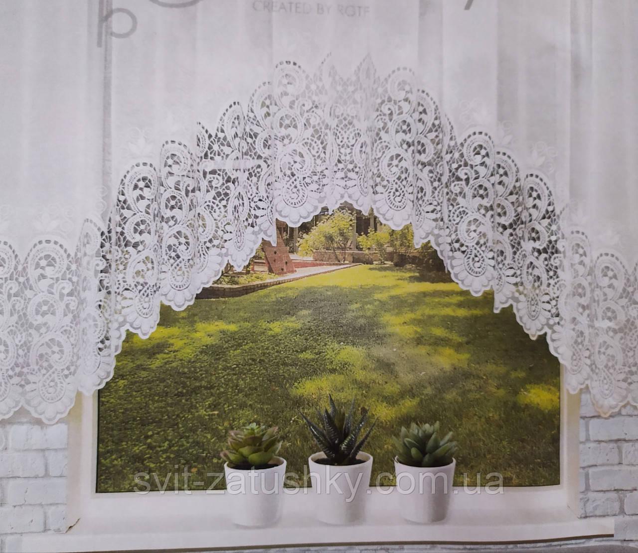 Готова біла штора арка на кухню, столову, коридор.