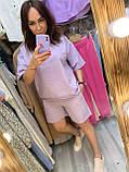 Женский летний спортивный костюм футболка и шорты двухнить размер: 42-44,46-48, фото 3