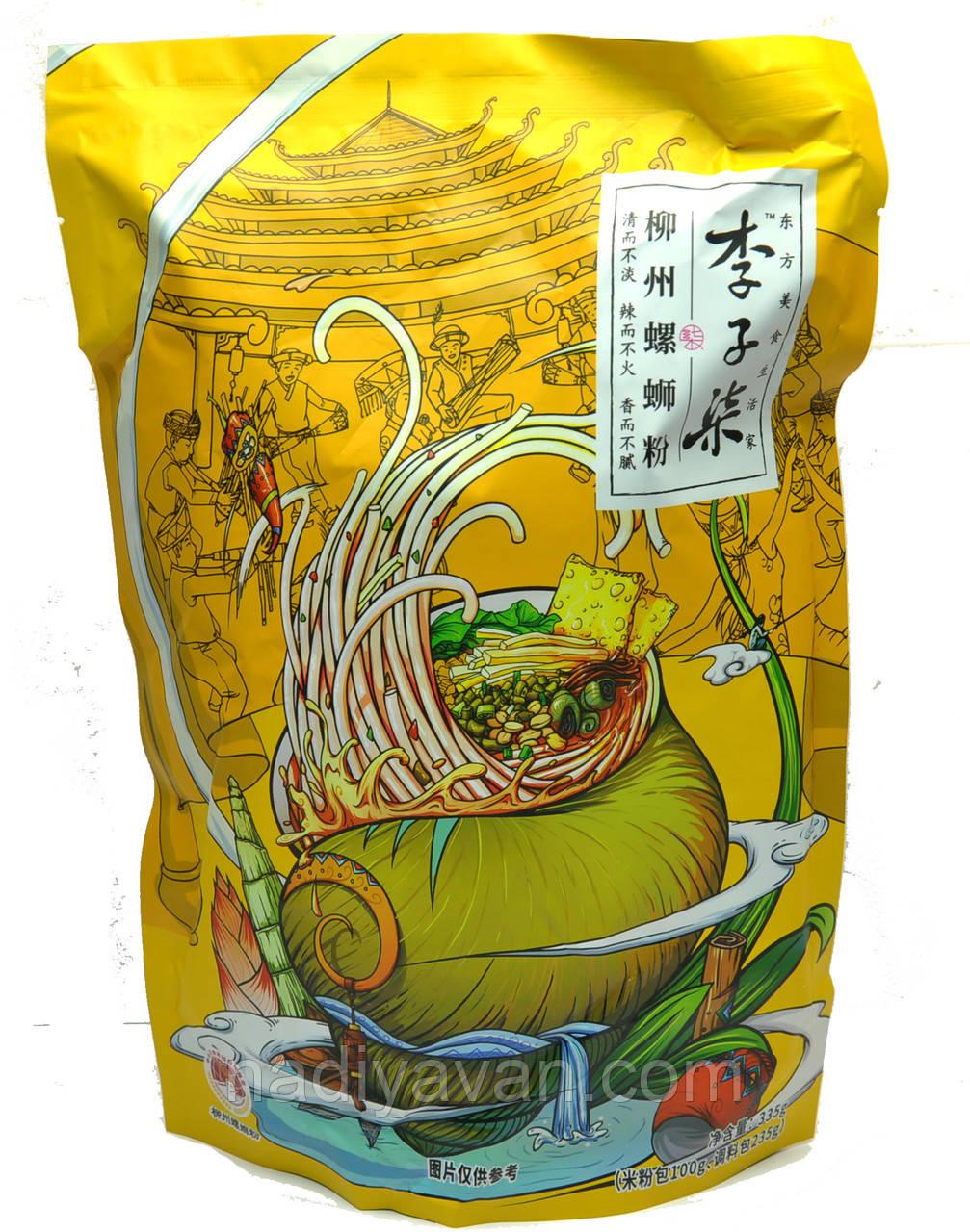 Luo Si Fen Рисова локшина 335г суп база з річковими равликами