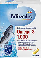 Mivolis Omega-3 рыбий жир  60 капсул - Германия, фото 1