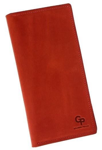 Женское кожаное портмоне Grande Pelle, красный кошелек с отделениями для карточек, купюр и монет, матовый
