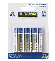 Батарейки Buromax LR6 AA набор 4 шт. (BM.5900-4)