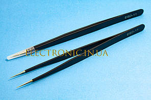 Пінцет ESD-11 антистатичний прямий 140mm
