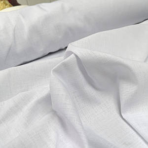 Ткань лен стрейч белый