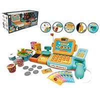 Детский кассовый аппарат Мини магазин со сканером, весами и лентой для продуктов Metr+ 888 Е