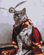 Картина по номерам Котик ловец снитча 40*50см Brushme  Кот Гарри Поттер Прикольные худ. Эка Удальцова