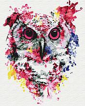 Картина по номерам Сова в красках 40*50см Brushme  Радужные животные