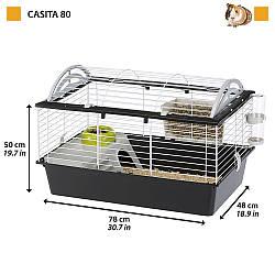 Клетка CASITA 80 FERPLAST клетка для кроликов, шиншилл