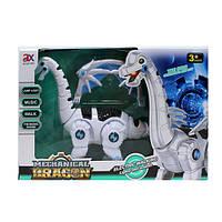 Интерактивный робот Динозавр дышит паром ходит