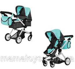 Кукольная коляска Трансформер Melobo 9651B MIDDLE BLUE 2 в 1 с сумкой Голубая