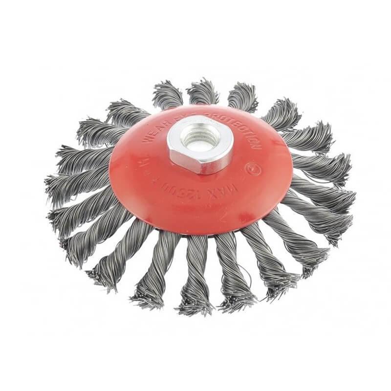 Щітка конусна з плетеного дроту D100 М14 Htools