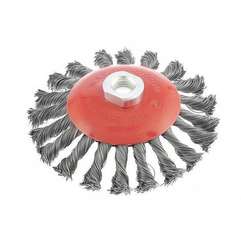 Щітка конусна з плетеного дроту D100 М14 Htools, фото 2