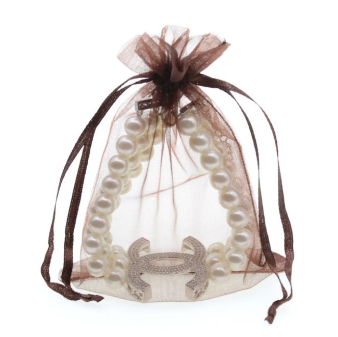 Подарочные мешочки из органзы Коричневый