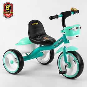 Велосипед трехколесный детский (колеса EVA, свет, звук) Best Trike 80627 Мятный