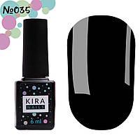 Гель-лак Kira Nails №035 (чорний, емаль), 6 мл, фото 1