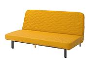 IKEA NYHAMN (493.064.43) 3-местный диван-кровать - с пенополиуретановой матрасом / СКИФТЕБУ желтый