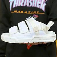 Літні жіночі зручні сандалі New Balance білі | Модні текстильні повсякденні босоніжки Нью Баланс, фото 1