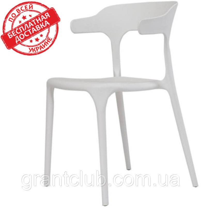 Пластиковий білий стілець Lucky Concepto (безкоштовна доставка)