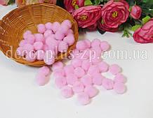 Помпоны 1.5 см, (20шт), розовые