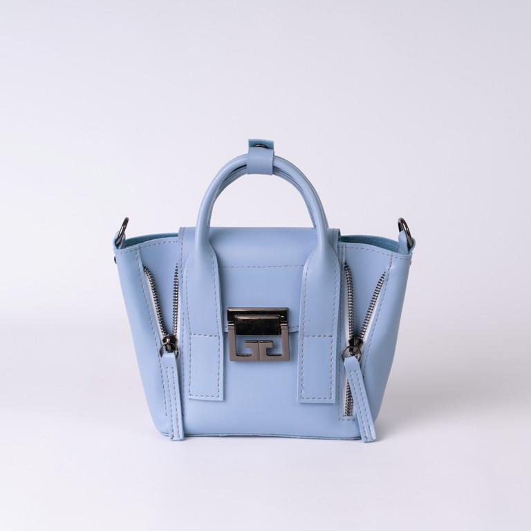 Блакитна міні-сумочка! Жіноча модна маленька сумка 30-21/4 через плече молодіжна крос-боді кошик