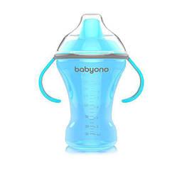 Чашка-непроливайка BabyOno Natural Nursing з твердим носиком, 260 мл, блакитний (1457)