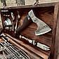 """Набір шампурів """"Зубр"""" Gorillas BBQ в дерев'яній коробці, фото 7"""