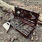 """Набір шампурів """"Зубр"""" Gorillas BBQ в дерев'яній коробці, фото 6"""