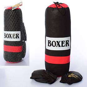 Детский боксерский набор (перчатки 2 шт. 16 см., груша (наполнитель текстиль) в сетке