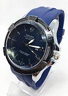 Годинники чоловічі наручні Rolex (Ролекс), сині з сріблом ( код: IBW682ZS )