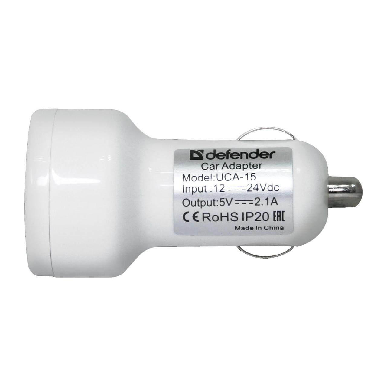 DEFENDER UCA 15 5V/2А+1A USB