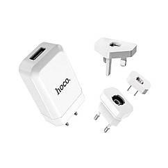 Hoco C45 Cool Rotary Muttistandart/2USB/2,4 A White