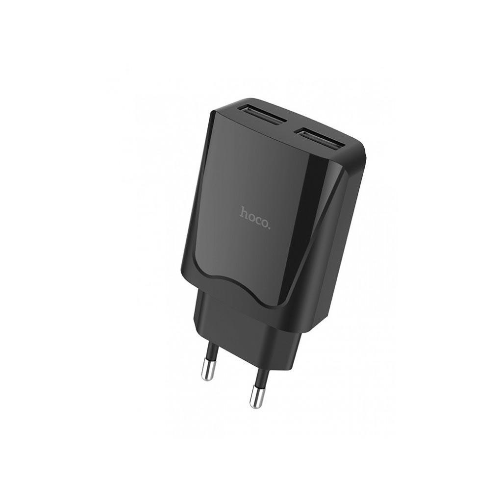 Hoco C52A Authority Power 2USB/2,1A Black (без кабеля)