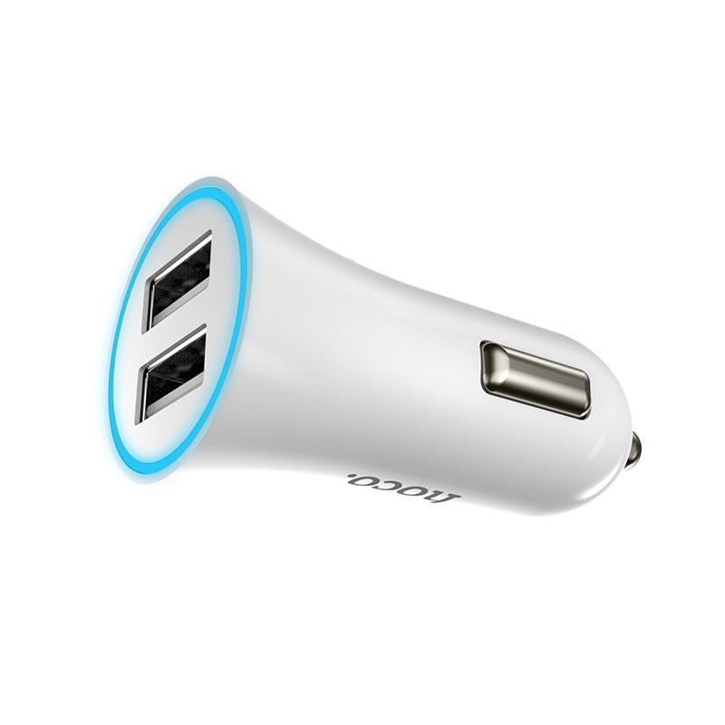 Hoco UC204 2USB/ 2,4A LED White